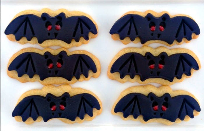 Vampire Bat Sugar Cookies