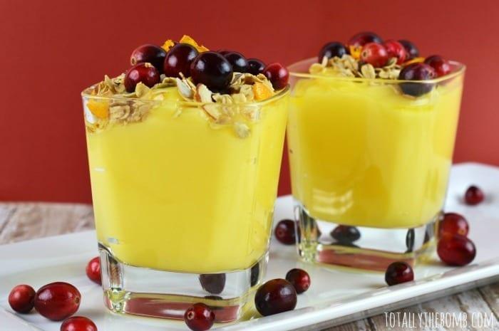 crunchy cranberry orange pudding Featured
