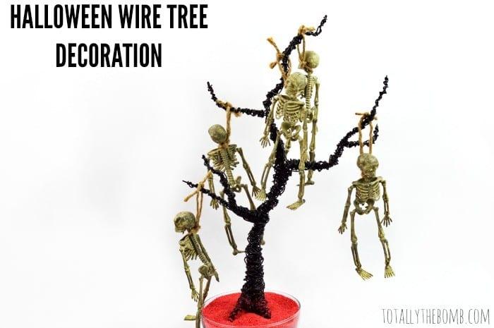 halloween wire tree decoration