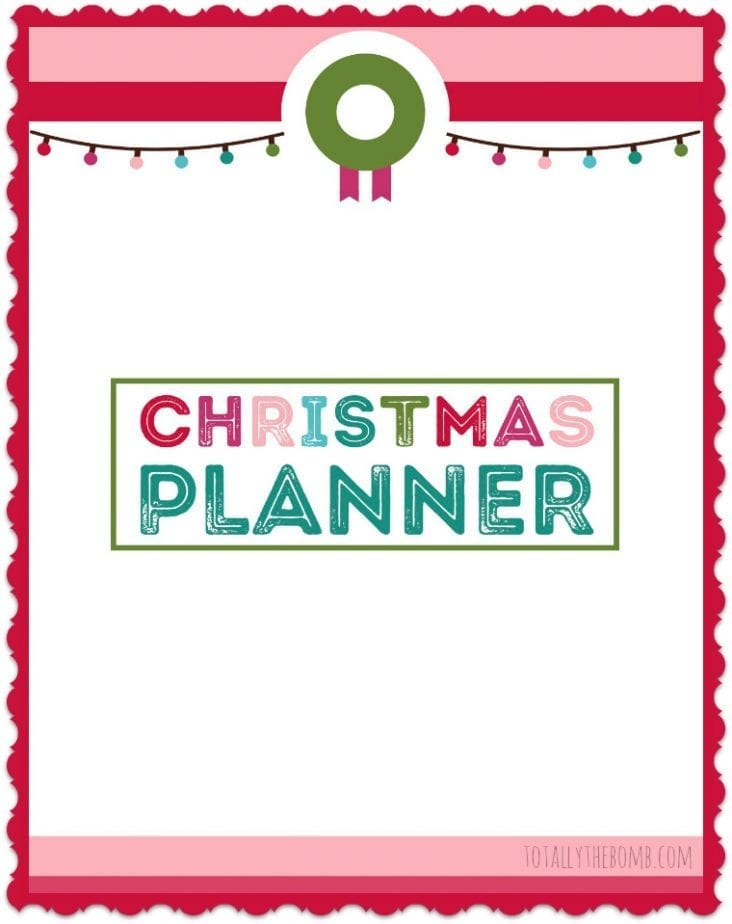 Christmas Planner Cover for Christmas Planning