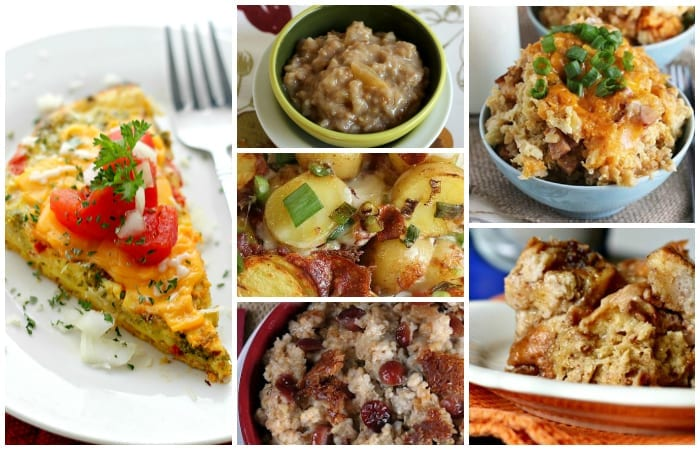 Christmas morning slow cooker breakfast options