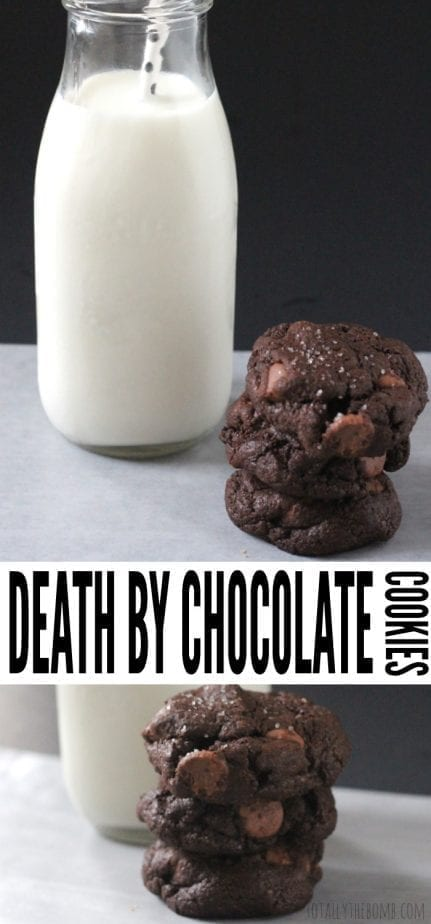 The only thing deadly about these Death By Chocolate Cookies is how death-defyingly delicious they are. Still, if I get to choose how I'd want to go, it's gonna be by chocolate... Click Now!