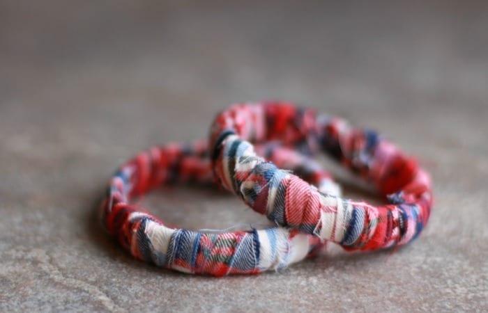 Easy No-Glue Flannel Bracelet