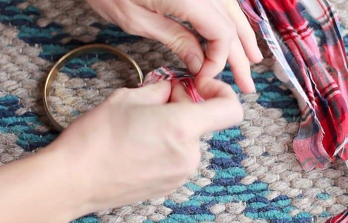 Flannel Shirt Bracelet Hack wrap strands