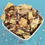 Make Your Own Peppermint and Chocolate Chex Mix