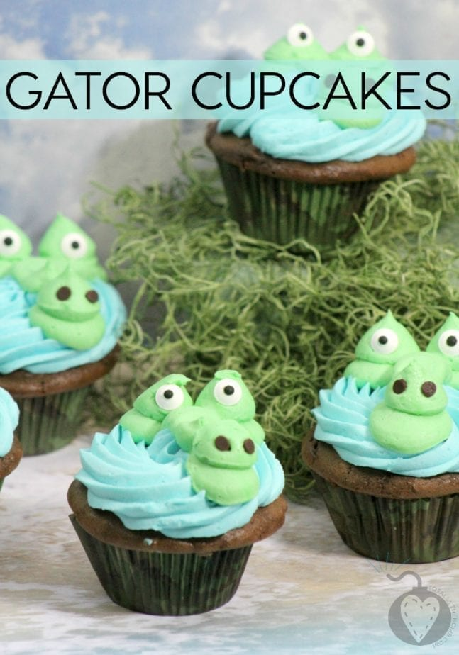 Gator Cupcakes