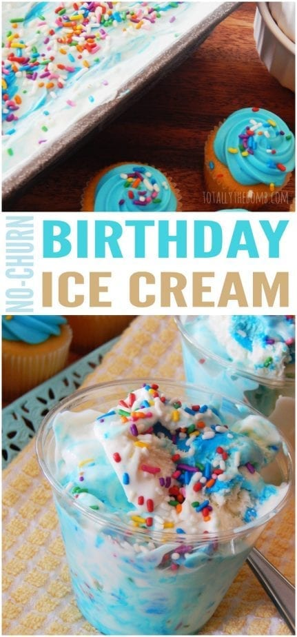 This No-Churn Birthday Ice Cream is the ice cream you've been waiting for since you were five. Go ahead; indulge! Click now!