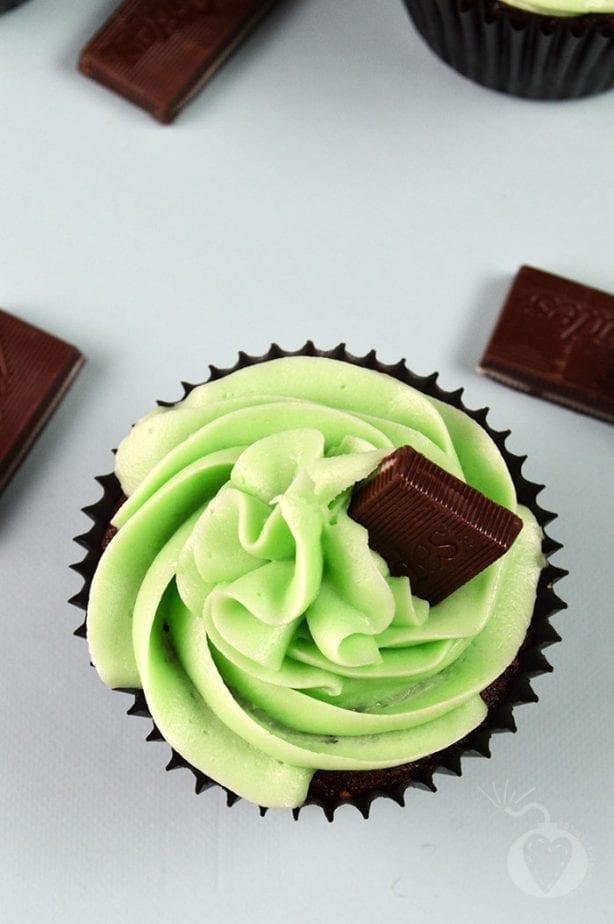 chocoalte mint cupcakes2