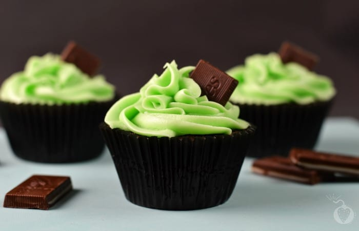 Homemade Chocolate Mint Cupcakes