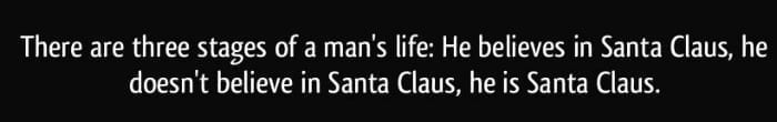three stages of santa