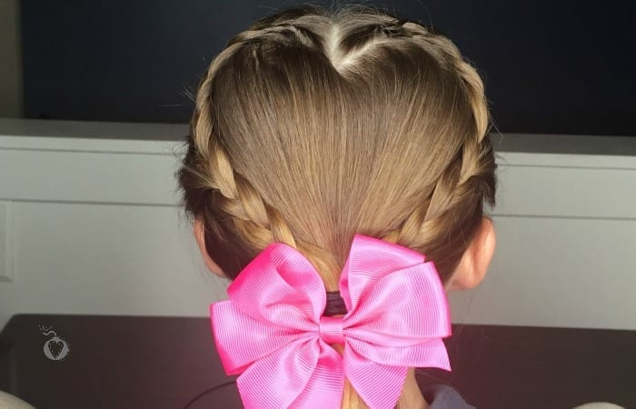 Easy Kid's Valentine's Day Hair Tutorial