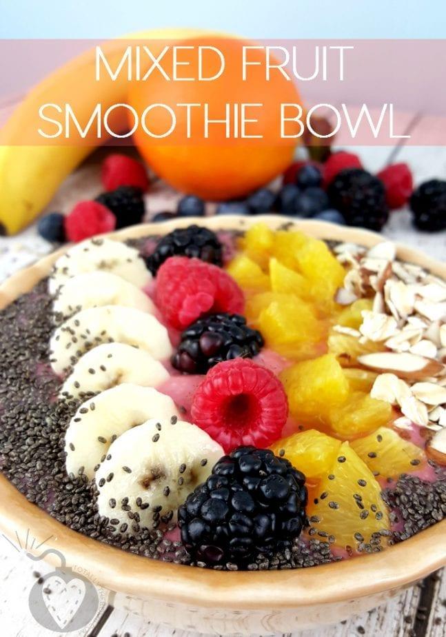 Mixed Fruit Smoothie Bowl