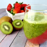 Strawberry Kiwi Layered Smoothie