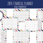 2016 Free Printable Financial Planner!