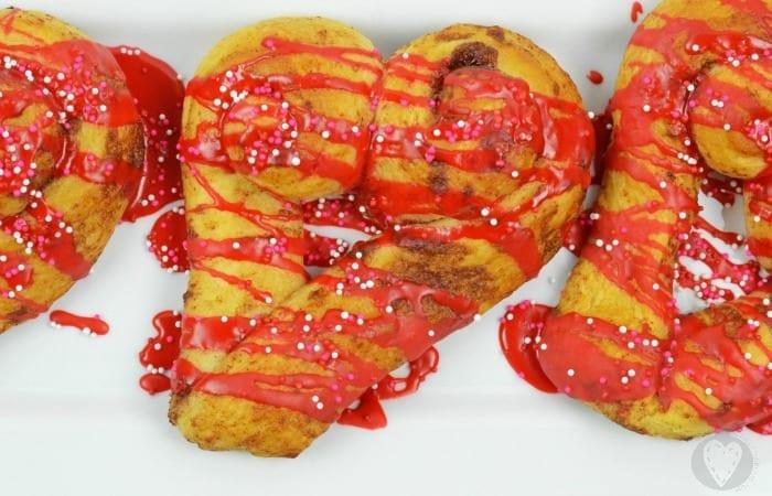 Heart Cinnamon Rolls