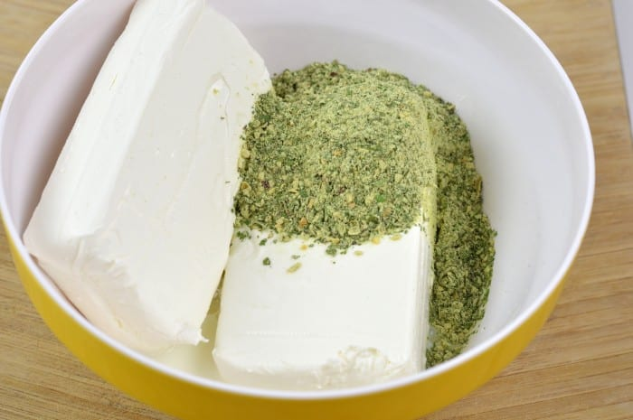 spinach parmesan bean dip step1
