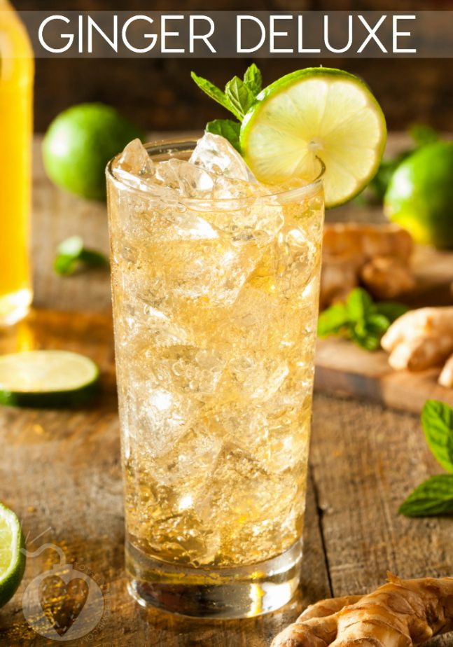 Ginger Deluxe Cocktail With Mint