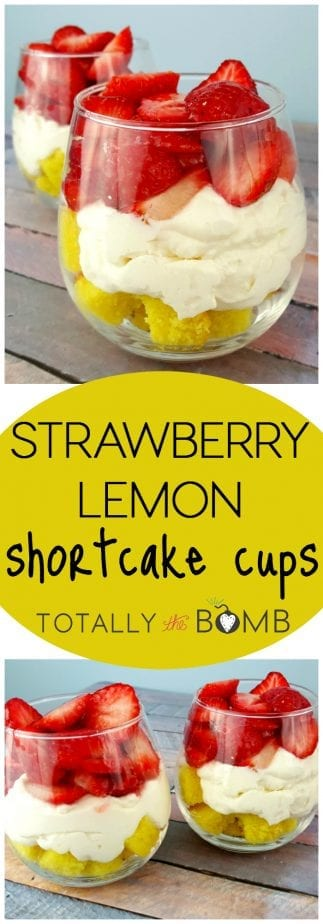 Strawberry Lemon Shortcake Cups
