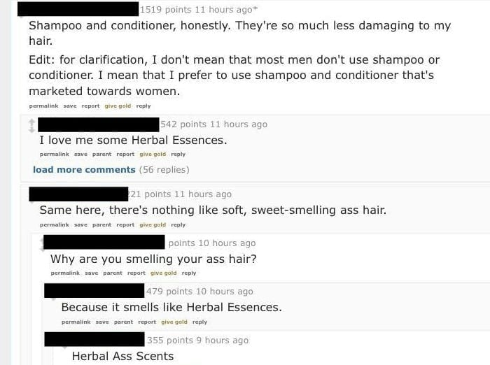 men love womens shampoo