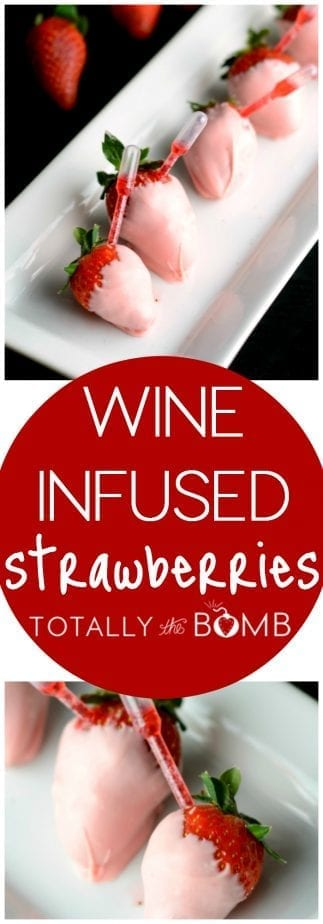 Wine Infused Strawberries