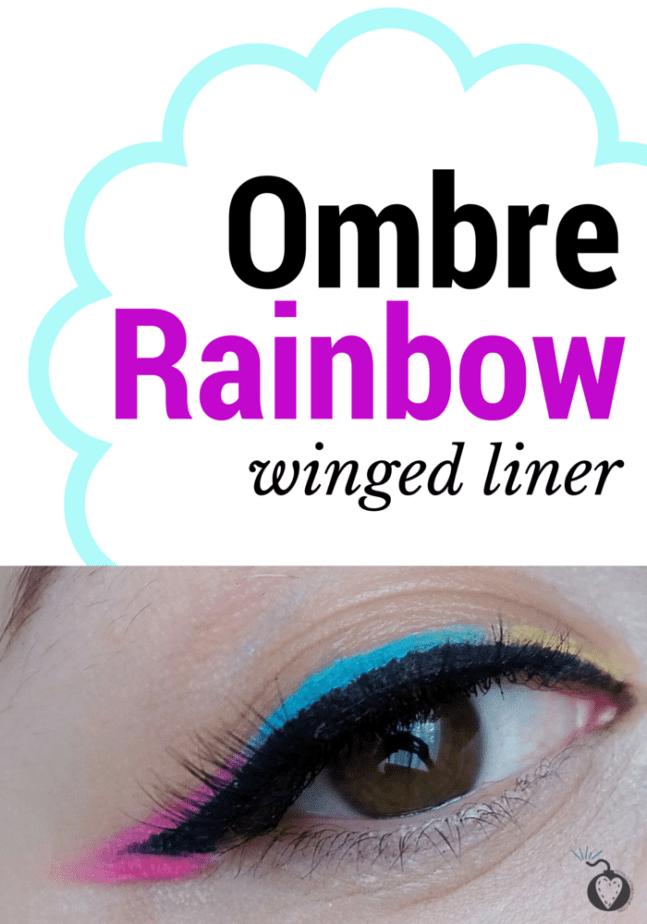 ombre rainbow eyeliner