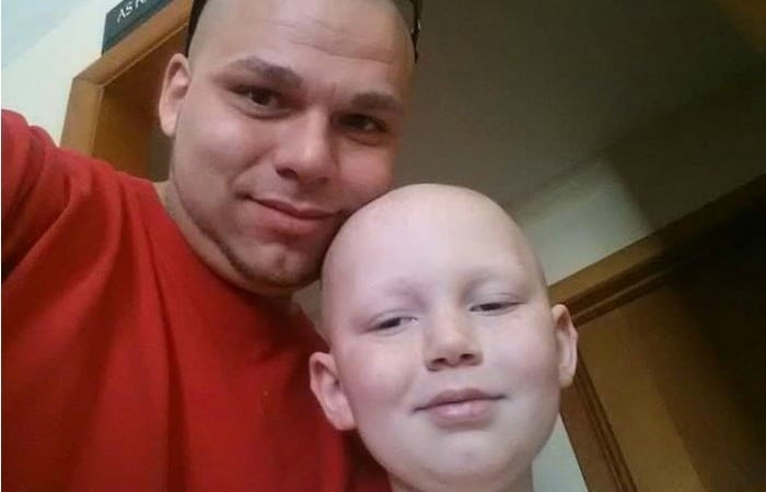 This #BestBaldDad Just Got A Tattoo To Show Support For His Cancer-Survivor Son!