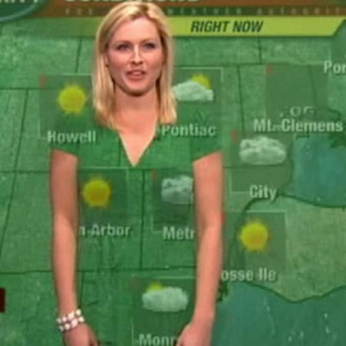 green screen weather forecaster