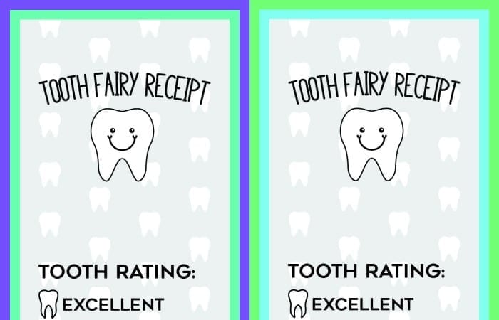 image relating to Free Printable Tooth Fairy Receipt named Free of charge Printable Enamel Fairy Receipts