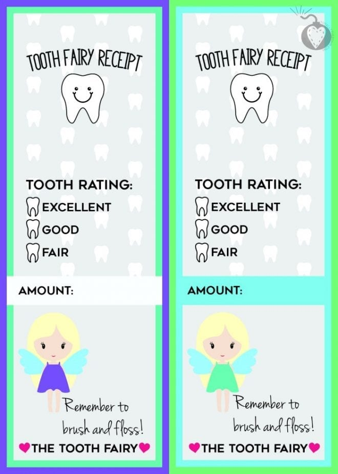 picture regarding Free Printable Tooth Fairy Receipt identified as Totally free Printable Enamel Fairy Receipts