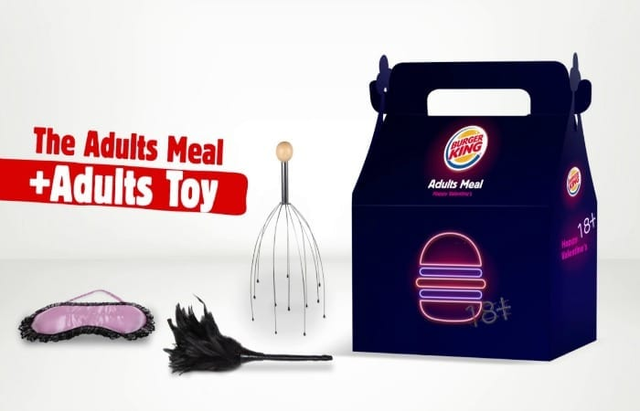 For Valentine's Day Burger King Is Selling 'Adult Meals' With 'Adult Toys'!!
