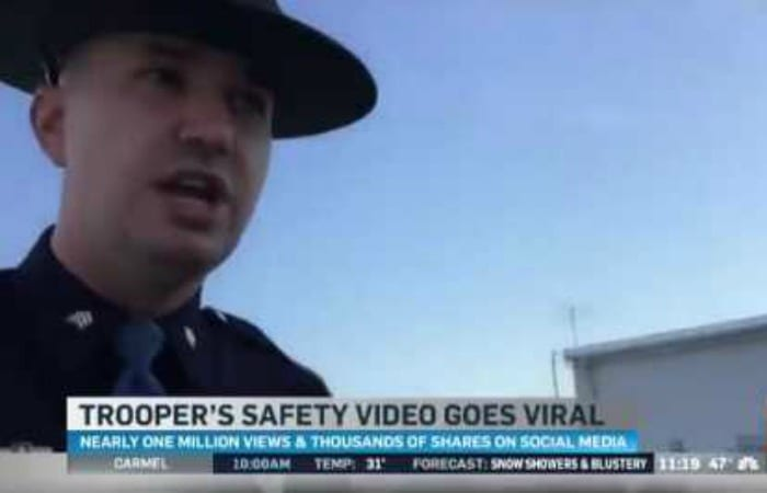 """State Trooper's Hilarious """"Turn Signal PSA"""" Goes Massively Viral"""