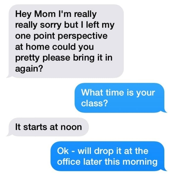 text conversation between me and my teenage son