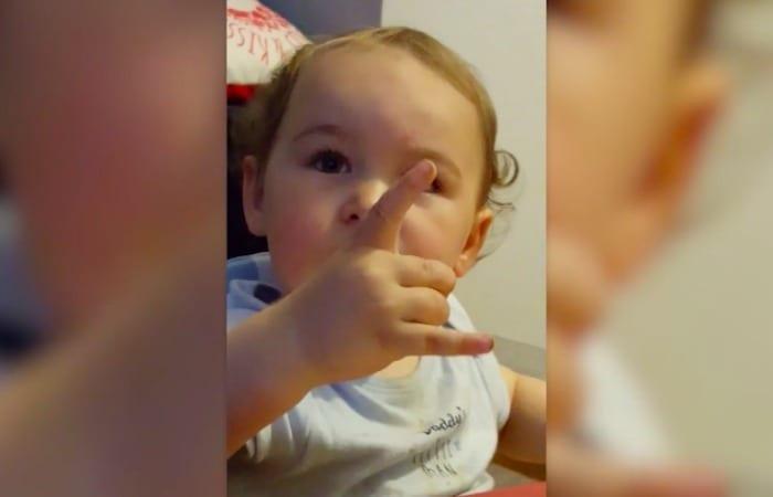 Rocker Baby Head Bangs To 'Hey Jude'