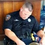 After Working Countless Hours Rescuing Those Affected By Hurricane Harvey, This Officer Passed Out