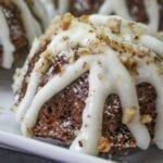 Chia Carrot Cupcakes With Orange Cream Cheese Glaze