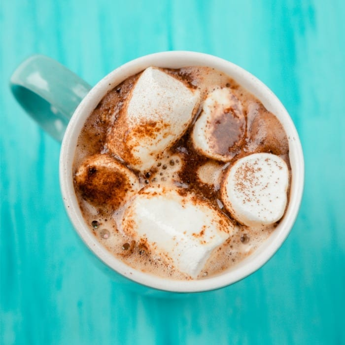 A classic hot chocolate with citrus and clove is perfect for the holiday season