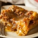 Old Fashioned Bread Pudding With Rum Sauce