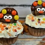 Reese's Peanut Butter Cup Turkey Cupcakes