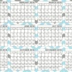 Free Printable 2018 Calendar – Cheers To A New Year!