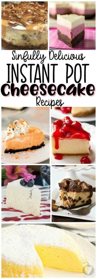 Instant Pot Cheesecake Recipes #instantpot #instantpotrecipes #cheesecakerecipes #instantpotcheesecake