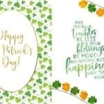 Free Printable St. Patrick's Day Wall Art