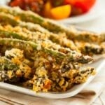 Potatoes were So last century. Toss those french fries in the trash where they belong and come savor crisp asparagus fries with the rest of us. Enjoy! | #TotallyTheBomb #asparagus #recipe #panko #fries #veggies #lower-carb #sides #yum