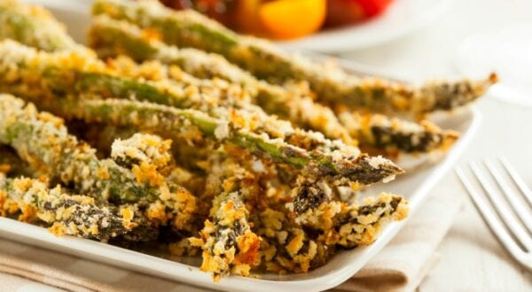 Potatoes were So last century. Toss those french fries in the trash where they belong and come savor crisp asparagus fries with the rest of us. Enjoy!| #TotallyTheBomb #asparagus #recipe #panko #fries #veggies #lower-carb #sides #yum