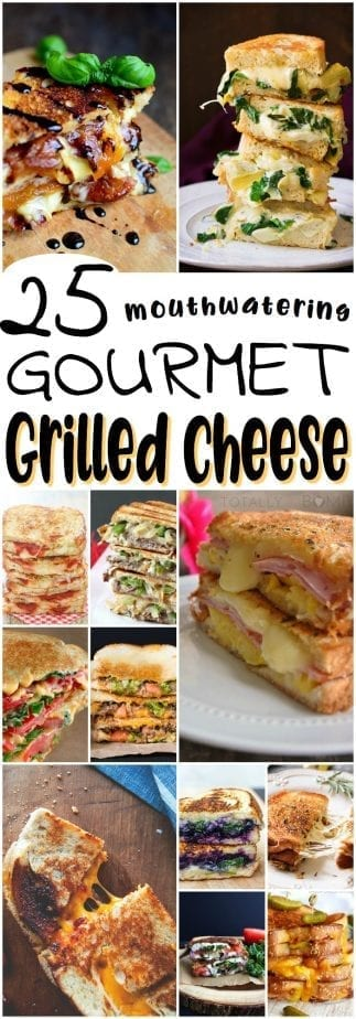 These gourmet grilled cheese sandwiches are nothing like your mom used to make, but will definitely remind you of a time when crusts were your biggest problem. | #TotallyTheBomb #grilledcheese #recipes #foradults #sandwiches #nostalgia