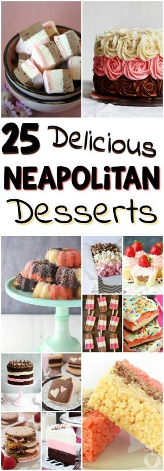 These recipes are for those who fully appreciate the epic taste of chocolate, vanilla, and strawberry all swirling like some multi-flavored gift from the gods. | #TotallyTheBomb #Neapolitan #recipes #desserts #nom #yummy #tasty