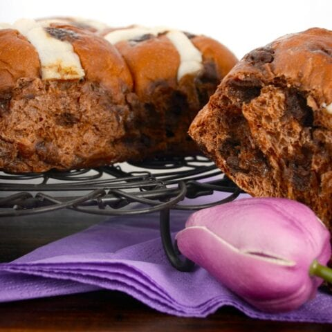 Delicious Chocolate Hot Cross Buns