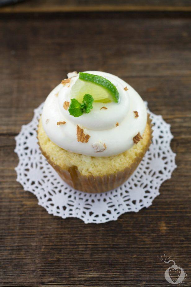 mojito cupcakes on a white doily