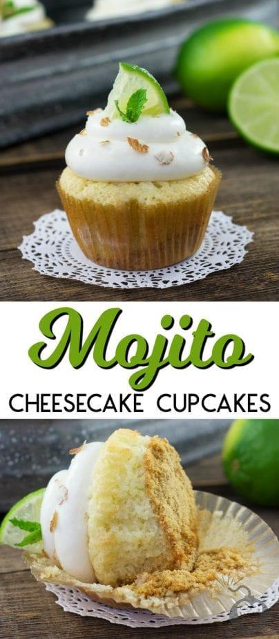 mojito cupcake on a cupcake wrapper