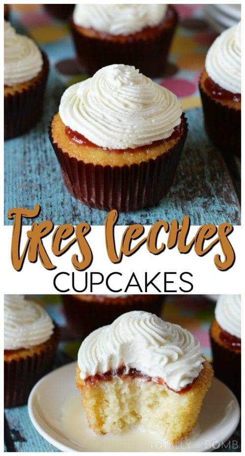 Tres Leches Cupcakes #tresleches #threemilk #3milk #cupcakes #cincodemayo