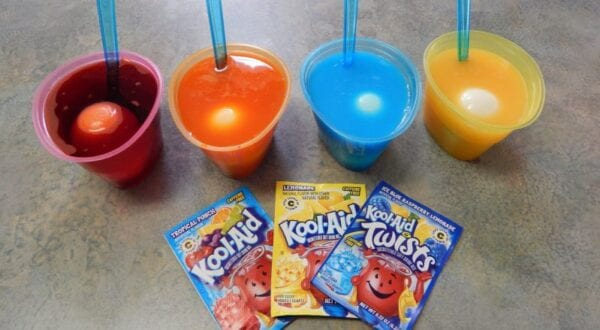 dye easter eggs kool aid